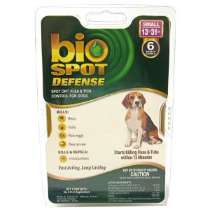 Bio Spot Defense Spot On Flea and Tick Control for Dogs: 6 Month Supply Small Dogs 13-31 lbs #100505042 - Flea and Tick Drops for Dogs Best Price