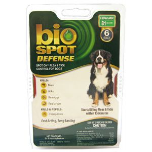 Bio Spot Defense Spot On Flea and Tick Control for Dogs: 6 Month Supply X Large Dogs Over 81 lbs #100505045 - Flea and Tick Drops for Dogs Best Price