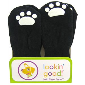 Fashion Pet Solid Slipper Socks - Black: Large Black #582JLG - Dog Boots Best Price