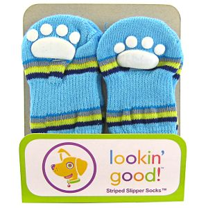 Fashion Pet Solid Slipper Socks - Blue: Small Blue #582BSM - Dog Boots Best Price