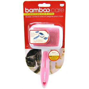 Bamboo Slicker / Bristle Brush and Comb for Cats - Cat Grooming Brushes and Combs Best Price