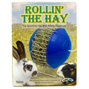 Super Pet Rollin&#039; the Hay Spinning Hay Dispenser #100079407 - Small Pet Hay Feeders
