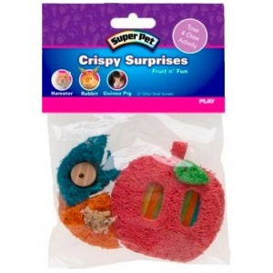 Super Pet Crispy Surprises - Fruit n' Fun - Small Pet Chew Toys Best Price