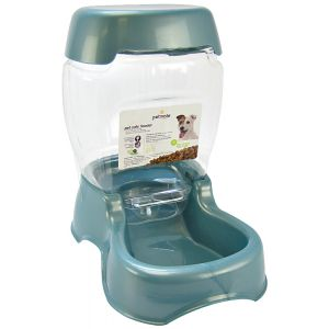 Petmate Café Pet Feeder - Pearl Waterfall: Small Feeder - (3 lbs - 6.5L x 10.5W x 9H) #24626 - Gravity Dog Feeders Best Price