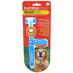Bamboo QuadBrush Ultimate Pet Toothbrush: Large Dog #810269 - Dog Dental Care Best Price