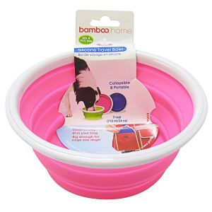 Bamboo Silicone Travel Bowl: 3 Cups #810282 - Dog Travel Bowls and Waterers Best Price