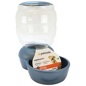 Petmate Replendish Feeder - Pearl Blue: 18 lbs #24499 - Gravity Dog Feeders Best Price