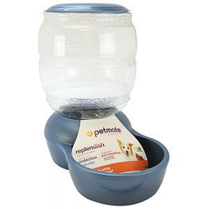 Petmate Replendish Feeder - Pearl Blue: 10 lbs #24528 - Gravity Dog Feeders Best Price