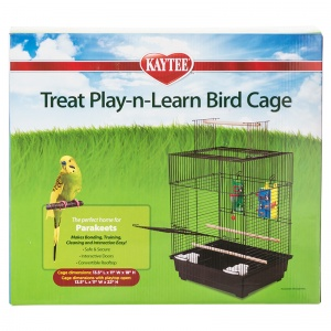 Super Pet Treat Play-n-Learn Parakeet Cage: 1 Pack - 13.5L x 11W x 18H (22 with Playtop Open) #100505919 - Bird Cages Best Price