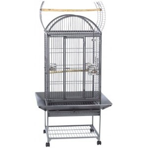 Super Pet EZ Care Dometop Flight Cage - Medium Bird: Medium Bird - (32.25L x 28.5W x 58.5H) #100079576 - Bird Cages Best Price