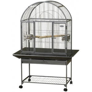 Super Pet EZ Care Dometop Flight Cage - Small Bird: Small Bird - (38.75L x 27W x 56.5H) #100079574 - Bird Cages Best Price