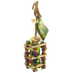 Living World Natures Treasure Bamboo Cubic Ladder - Bird Toys Best Price