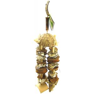 Living World Natures Treasure Coco Shell Chime: Large/Xlarge Hookbills #81283 - Bird Toys Best Price
