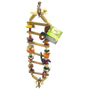 Living World Natures Treasure Bamboo Ladder: Small/Medium Hookbills #81287 - Bird Toys Best Price