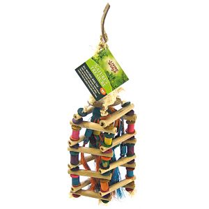Living World Natures Treasure Bamboo Cubic Ladder: Medium Hookbills #81290 - Bird Toys Best Price