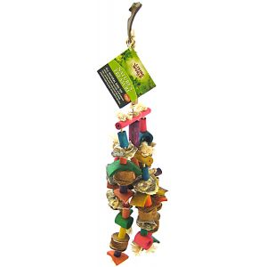 Living World Natures Treasure Coco Husk Mobile: Medium/Large Hookbills #81292 - Bird Toys