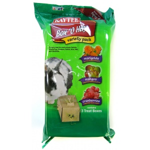 Kaytee Box O Hay Variety Pack - Marigold, Mango & Cranberry