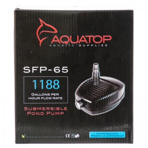Aquatop SFP-65 Submerisble Pond Pump Adjustable Flow: SFP-65 Submersib