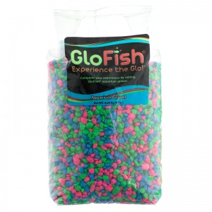 GloFish Aquarium Gravel - Pink/Green/Blue Fluorescent: 5 lb