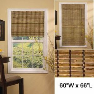 Lewis Hyman Deluxe Roman Shade-Burnt Bamboo Color-60