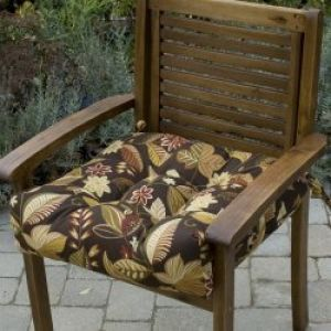 20 Inch Outdoor Chair Cushion: 20 inch Outdoor Chair Cushion, Timberland Floral
