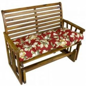 46 Inch Outdoor Swing/Bench Cushion: 46 inch Outdoor Swing/Bench Cushion, Roma Floral