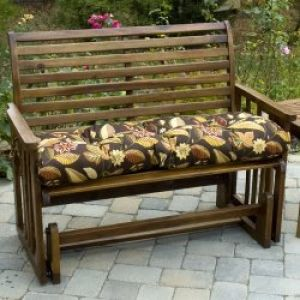 46 Inch Outdoor Swing/Bench Cushion: 46 Inch Outdoor Swing/Bench Cushion, Timberland Floral
