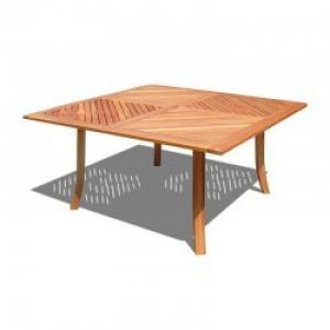 1m5 Outdoor Square Table Natural Wood