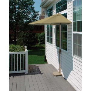 9 Ft. OFF-THE-WALL BRELLA with Olefin Fabric Antique Beige