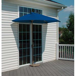 9 Ft. OFF-THE-WALL BRELLA with Olefin Fabric Blue