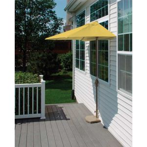 9 Ft. OFF-THE-WALL BRELLA with Olefin Fabric Yellow