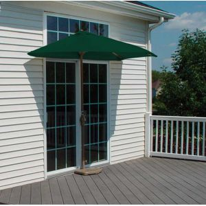 9 Ft. OFF-THE-WALL BRELLA with SolarVista Fabric Green