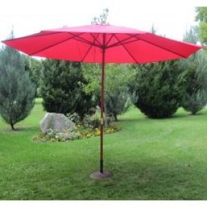 13' Patio Outdoor Umbrella Cranberry Red