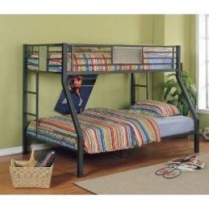 615 powell monster bedroom twin full bunk bed black chrome 800 609