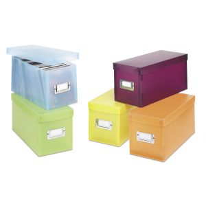 Hold N Storage Plastic Organizer CD Boxes