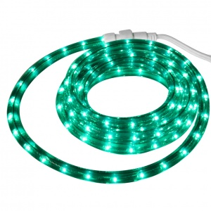 9' Green Rope Light