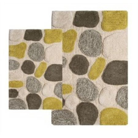 Chesapeake Merchandising, Inc. 2-Piece Bath Rug Set in New Willow - Pebbles - 26652