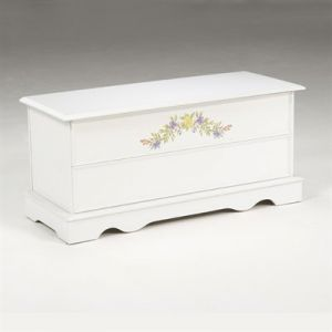 Bernards 7306 - White Cedar Chest Bedroom Bench: 7306 Bedroom Bench White #7306 - Blowout Deals