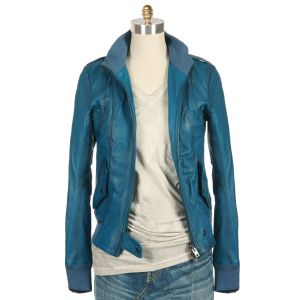 S.W.O.R.D. Lucca Leather Bomber Jacket