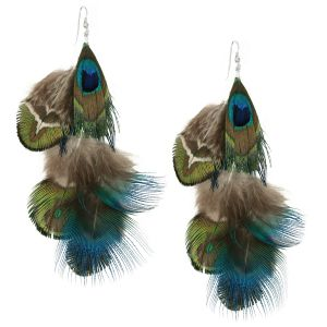 CAMPISE Feather Earrings Jewelry