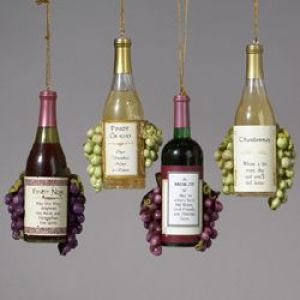 ksa club pack of 12 vintage tuscan winery wine bottle and grapes christmas ornaments dksa