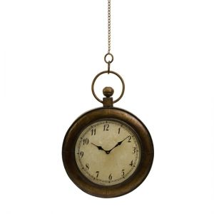 CC Home Furnishings Antique-Style Oversized Pocket Watch Hanging Wall Clock 45