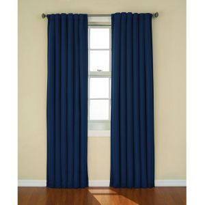 Eclipse Tavern Blackout Window Curtain Panel: 52 (W) X 63 (L) Curtain Indigo