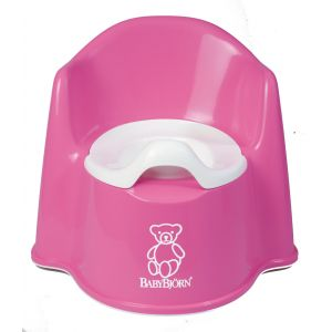Baby Bjorn Potty Chair Potty Chair Pink 55155US Bath Time and Potty Training