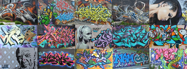 Collage of 2012 TerraCycle Graffiti
