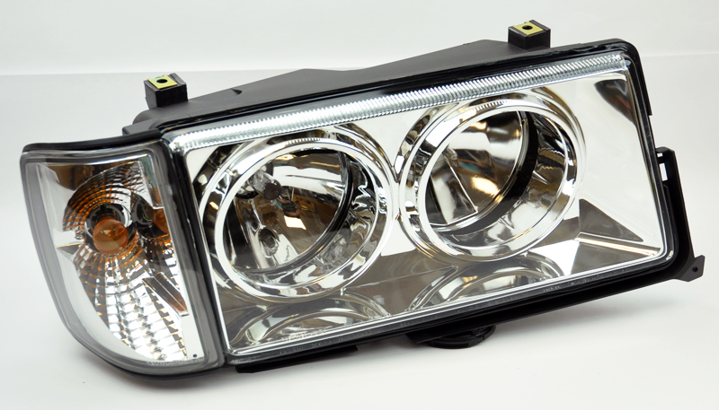 Mercedes benz 82 93 190e w201 crystal clear headlights w for Mercedes benz 190e headlights