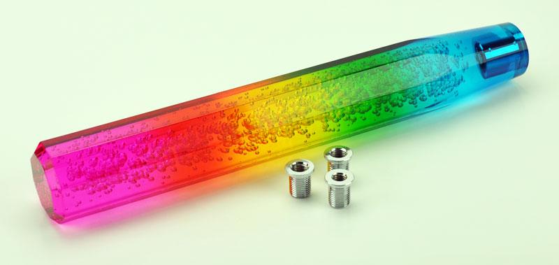 Jdm Crystal Bubble Vip Dildo 300mm Gear Shift Knob Rainbow