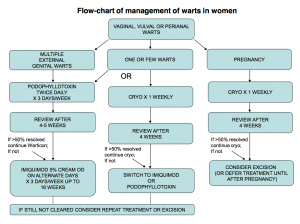 Fig 2 - BASHH flow-chart for the management of anogenital warts in women.