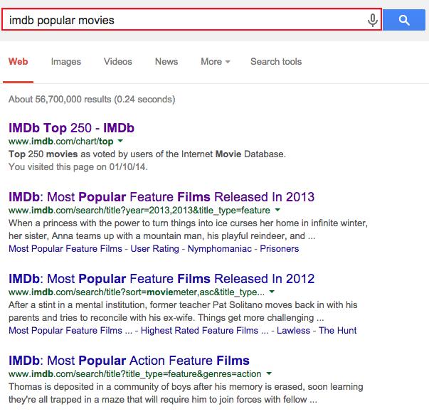 Imdb rating search