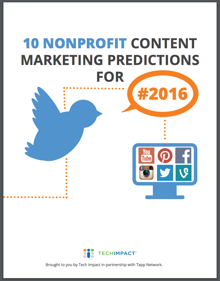 Nonprofit Content Marketing Predictions For 2016